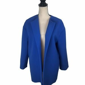 FRNCH Royal Blue Open Longline Blazer S/M